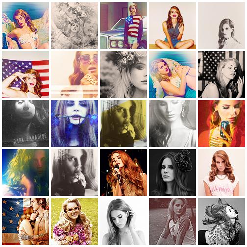 . 35 icons Lana Del Rey .