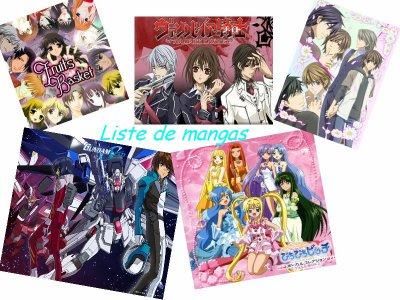 Liste des mangas