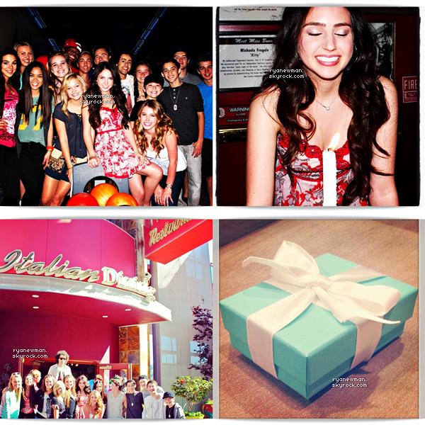 20/04/13 - Ryan Newman fête son anniversaire quelques jours en avance avec des amis au Jillian's