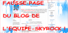 ATTENTION AUX FAUSSES PAGES DU SITE DE SKYROCK.COM !!!
