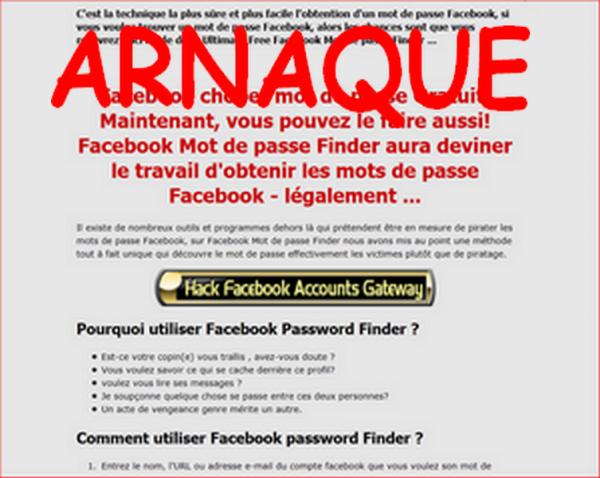 AUCUNE TEHCNIQUE N'EXISTE POUR OBTENIR DES MOTS DE PASSES FACEBOOK !!!