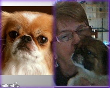 une photo  moi et ma petite chienne que j adore  et meilleur voeux
