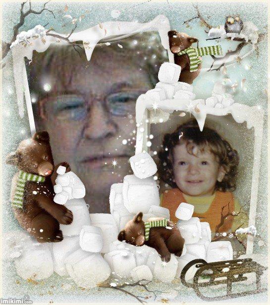 moi et ma fille  estelle qui a eu 40 ans le 4 janvier  1973 et la petite ses elle  elle avait 15 mois