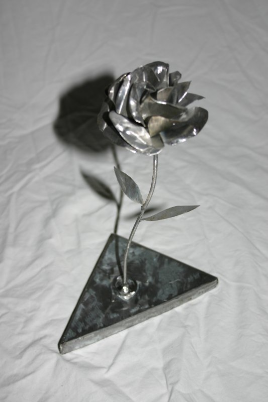 ROSE METAL (socle metal) ref:ROSEM00100HB