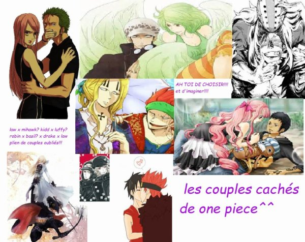 LES COUPLES CACHES DE ONE PIECE^^