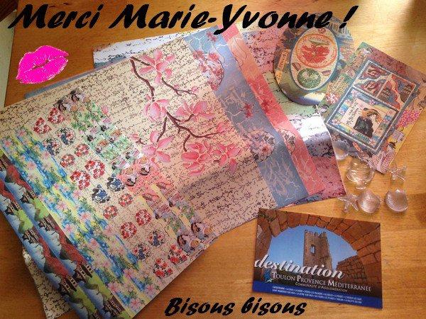 MERCI BEACUOUP MARIE-YVONNE