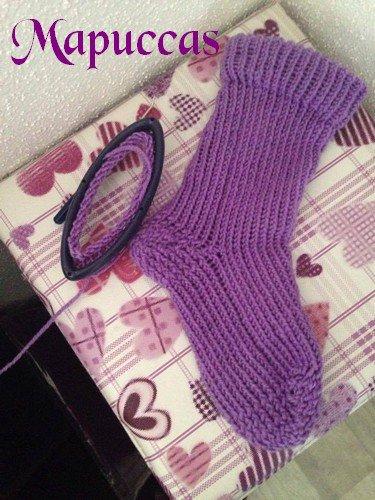 Chaussette au tricotins