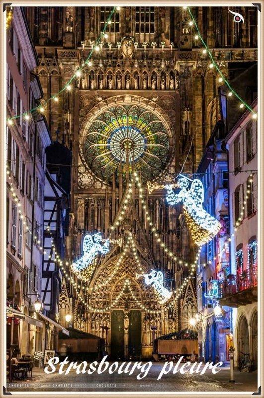 Chez moi à Strasbourg trop triste....  c'est arrivé ou commencé hier à 20h