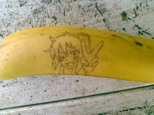 Draw on banana (Neko)