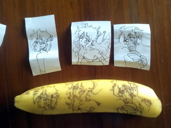 Draw on banana (Honda sisters)