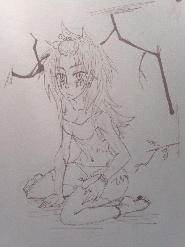 Wild Girl (carnet dessin)