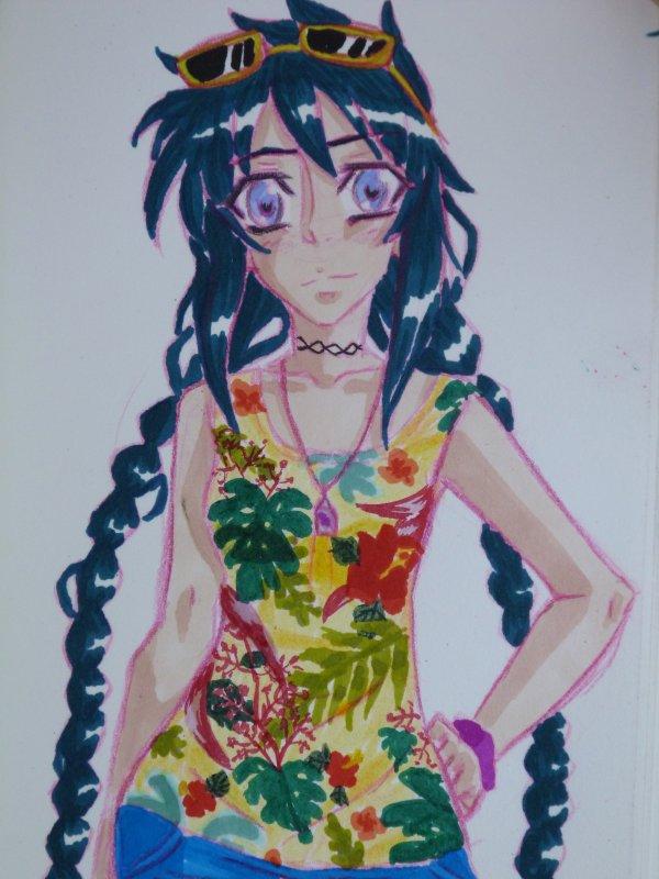 Neko (Line crayon couleur**)