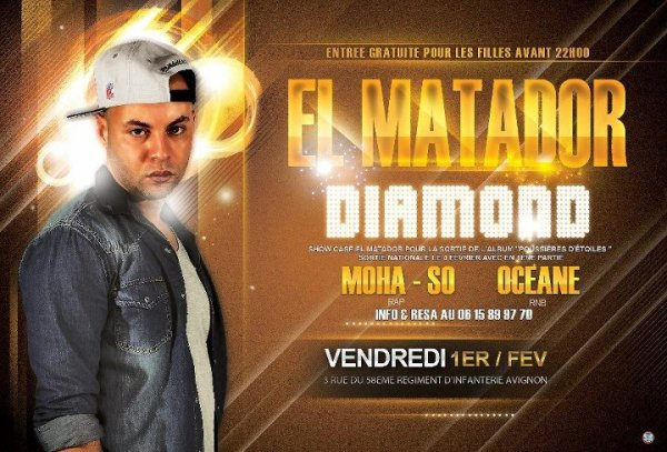 OCEANE en première partie de EL MATADOR au diamond le 01/02/13 a 22h00