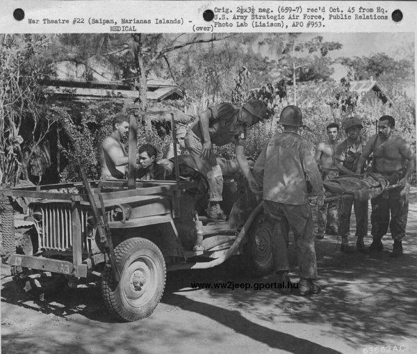 Slatgrill médic aux îles Marianne en octobre 1945