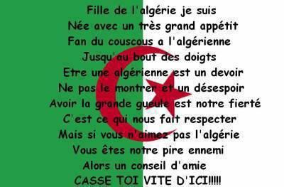algerienne fière reprezente mon pays