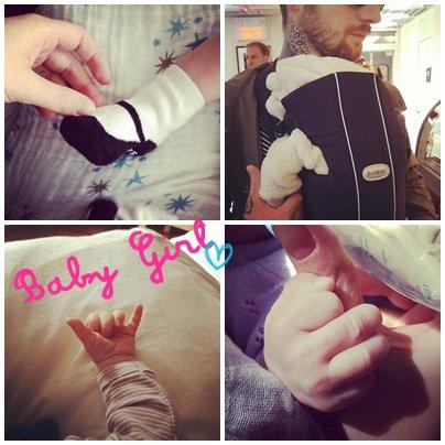 Coeur de pirate & sa petite fille accouchement le 5 septembre 2012