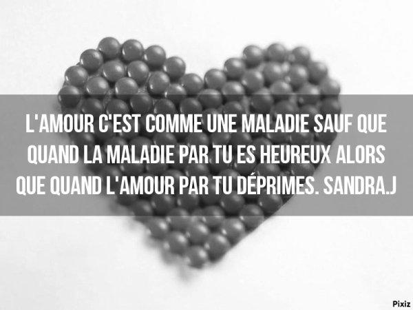 L'amour c'est comme une maladie