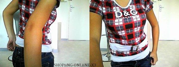 trés jolie tee shirt D&G taille s