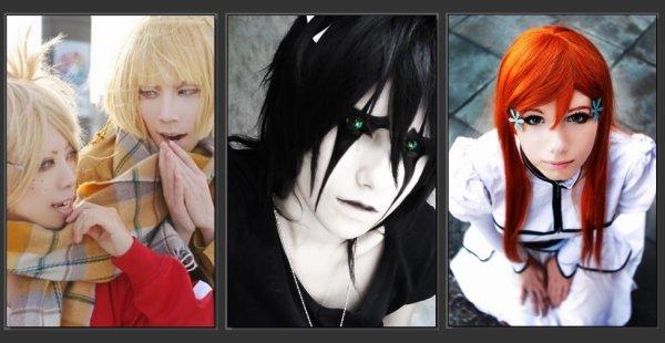 0 COSPLAY Sous culture japonais qui consiste à jouer le rôle d'un personnage (aussi bien de mangas, de comics ou de jeux vidéos) en prenant son apparence et en imitant sa personnalité. 0
