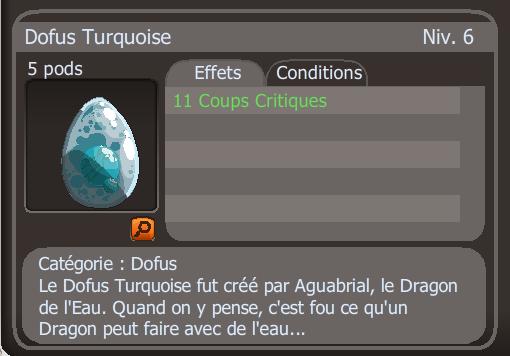 Drop dofus turquoise +11