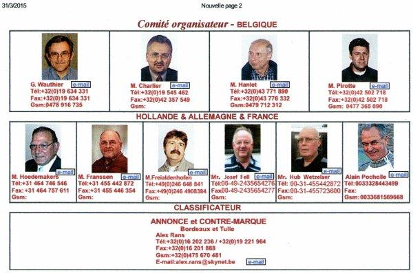 Une première un Français  au sein du comité d'organisation d'un concours Belge!.