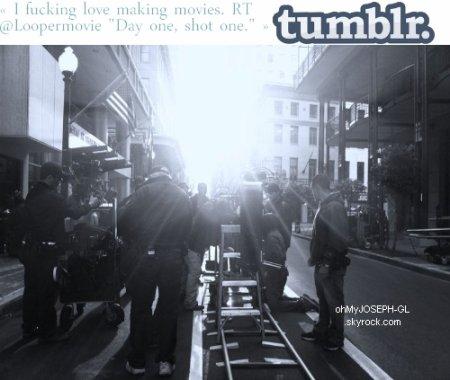 Petit message sur Twitter + Photo sur le Tumblr du film, rebblogé par Joseph