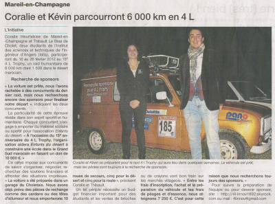 Article Ouest France Sarthe Sud