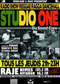 Studio One , l'émission reggae de Raje FM