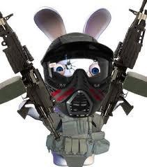 lapin cretin en militaire