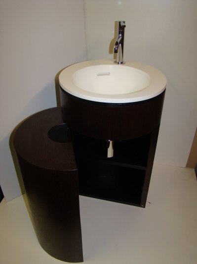 Lave main toilettes manu bois for Meuble lave main bois