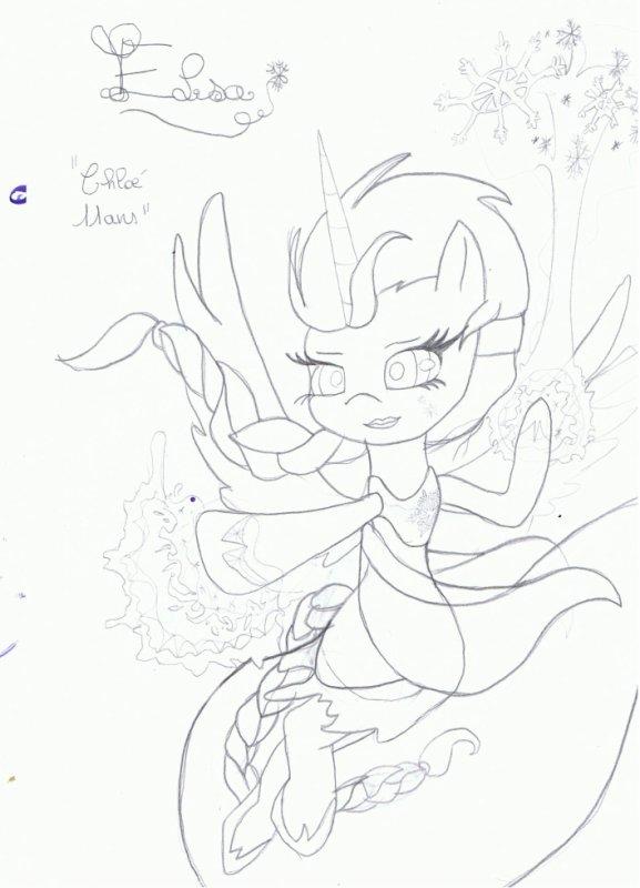 "Une dessin :DD'ELSA!<3 ""Version MLP"""