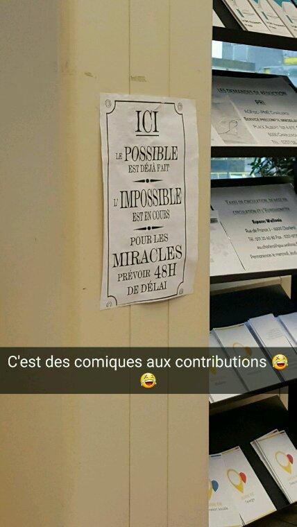 Gros délire aux contributions en Belgique :D