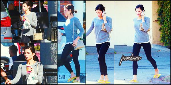 . ► Le 03/11/15 Jenna a été vu seule quitter un salon de manucure / pédicure et acheter un café  à Studio City, en Californie . .