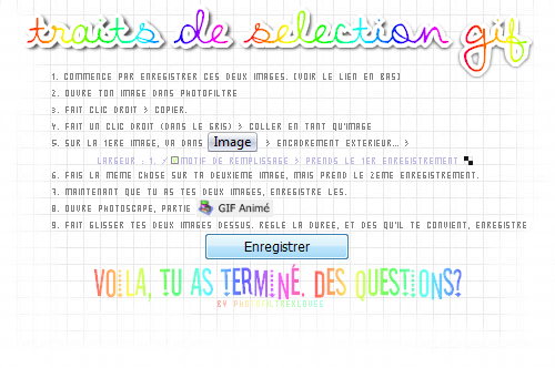 ■■■ Traits de selection Gif ■■■