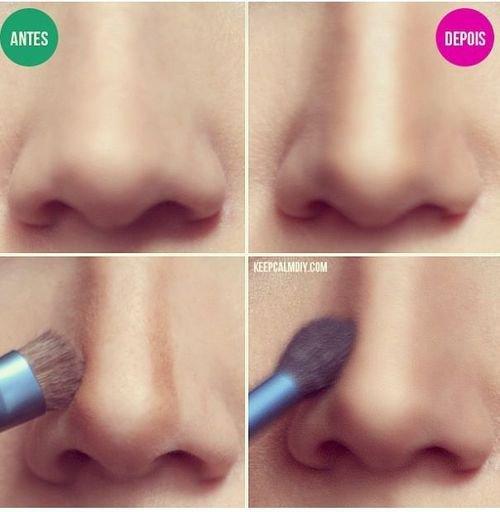 Amincir son nez avec du maquillage.