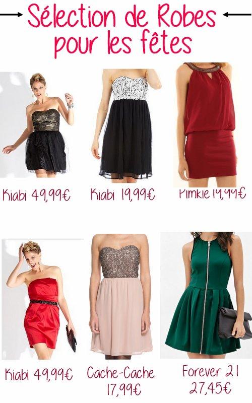 Sélections de robes pour les fêtes
