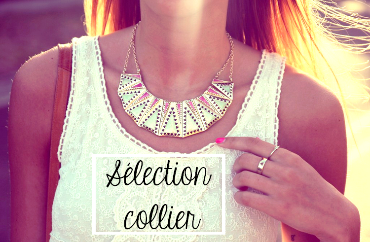 Sélection de colliers + 1 an du blog !