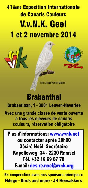 Demain  enlogement à Leuven pour beaucoup d'éleveurs!!!