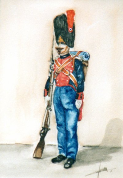 Aquarelle, soldat empire (indisponible)