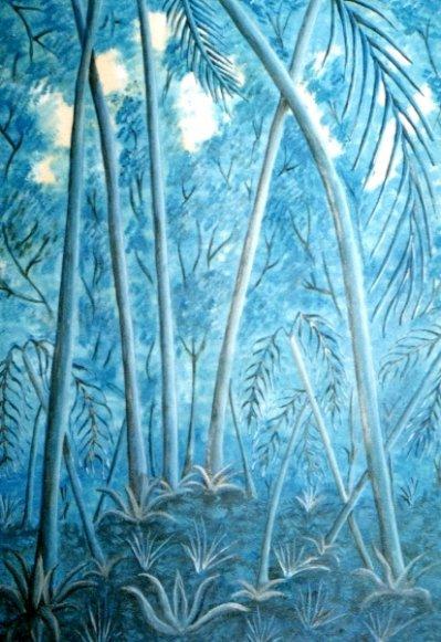 Acrylique, la forêt bleue (indisponible)