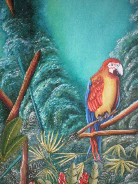 Peinture à l'huile, forêt tropicale (240 Euros)
