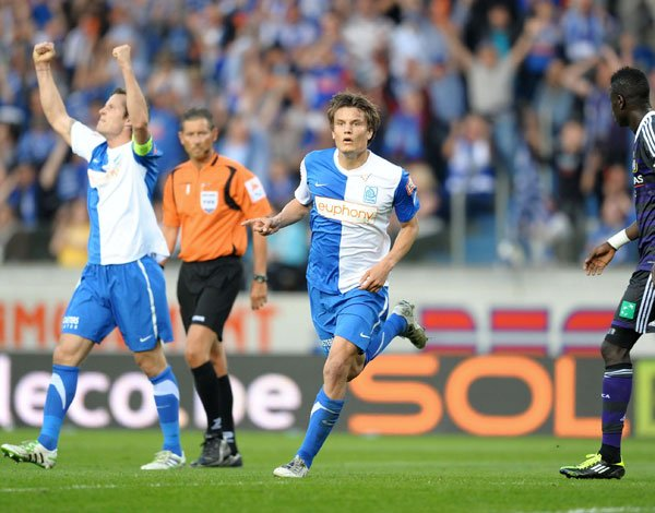 Jupiler Pro League : Play-off 1 : 7ème Journée : 6 Mai 2011 : Racing Genk - Anderlecht : 1 - 0