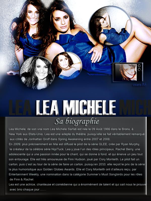 Présentation de l'actrice à la magnifique voix Lea MICHELE