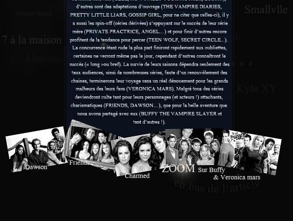 PARTIE 1 La fin des séries cultes  Explications sur la fin des séries...ARTICLES AU DESSUS ZOOM sur la série BUFFY the vampire slayer & à venir VERONICA MARS