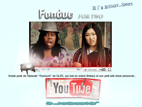 Fondue for three two :)   GLEE 2X19