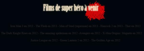 CHOISIS TON HERO ! 2 sondages cliks sur les photos pour y répondre
