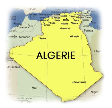 Carte Geographique De Lalgerie.La Carte Geographique De L Algerie Blog De Missy Diva