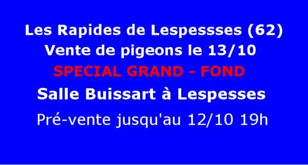 DERNIER RAPPEL........Vente Lespesses....