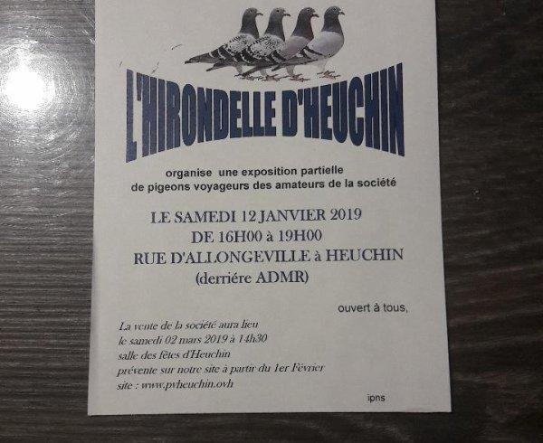 Exposition de la société ''L'Hirondelle d'Heuchin'' !