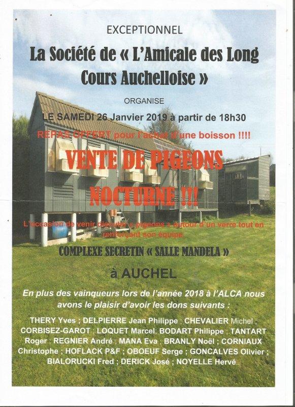Vente de la société de ''L'Amicale de Longs Cours Auchelloise''